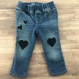 18-24 month GAP heart appliqué pull on jeans